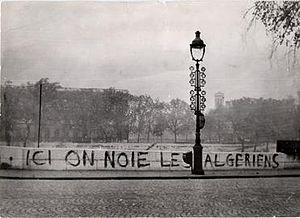Graffiti after the Paris Massacre 1961